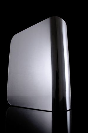 gigabytes: external hard drive, front side, with reflection