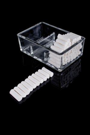 stomatology equipment, round white cotton bars Stock Photo - 3237679