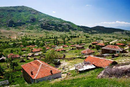 Stavica, very old beautiful village in Macedonia Stock Photo