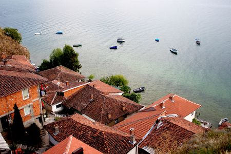 view of the Kaneo part of Ohrid, Macedonia