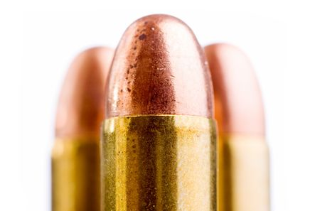 close up of bullets isolated on white Stock Photo - 3284209