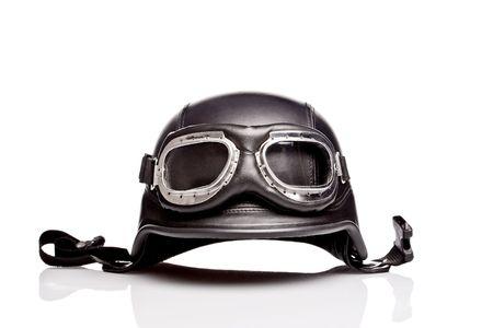 casco de moto: viejo estilo de nosotros ej�rcito casco de moto con gafas