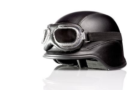 us army motorcycle helmet with goggles photo
