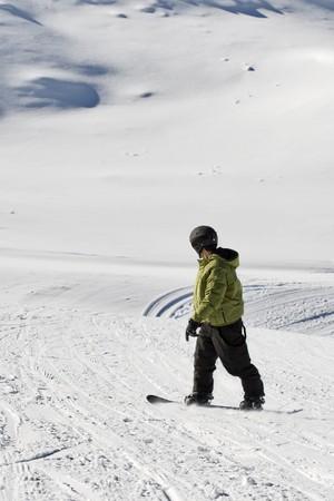 portrait of a boy snowboarding Stock Photo - 4197367