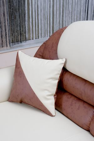 abstract photo of a brown luxury sofa Stock Photo - 4587736