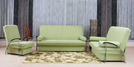green luxury sofa in a living room Stock Photo - 4587732