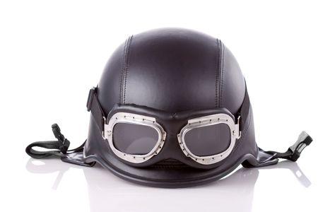casco de moto: viejo estilo de nosotros ej�rcito casco moto con gafas