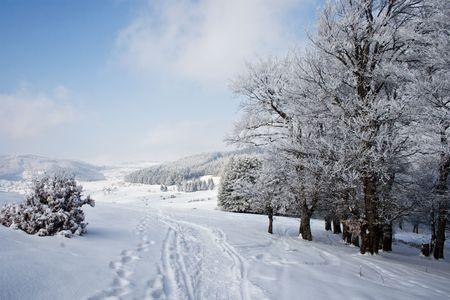 macedonia: landscape from the Krushevo region in Macedonia Stock Photo