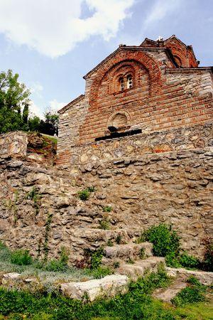 theologian: Church St.John Theologian at Kaneo, Ohrid, Macedonia
