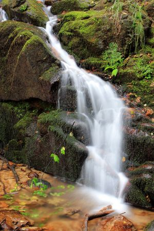 River flow and small waterfall photo
