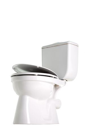 closed toilet, side view, isolated on white Stock Photo - 6398952