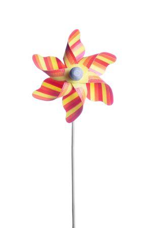 colorful children's pinwheel, isolated on white background Stock Photo - 6570632