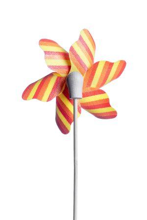 colorful children's pinwheel, isolated on white background Stock Photo - 6570620