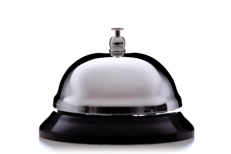 bellman: hotel service bell, isolated on white background