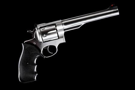 revolver against black background, 44 magnum caliber photo