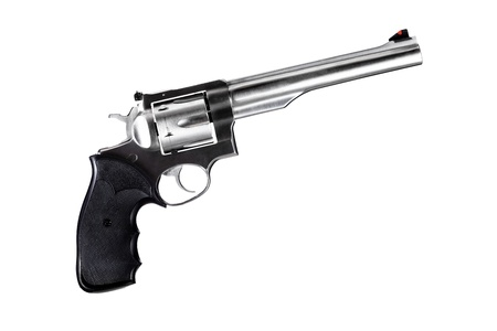 revolver isolated on white, 44 magnum caliber photo