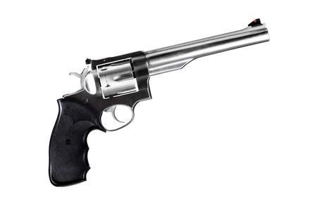 revolver isolated on white, 44 magnum caliber