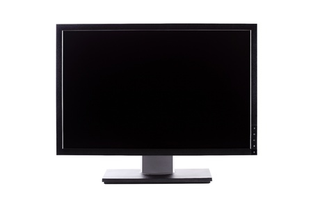 professional ips panel wide lcd monitor, isolated on white Stock Photo - 8506169