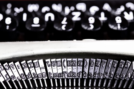 abstract close up shot of a typing machine photo