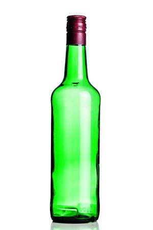 empty opened alcohol bottle, isolated on white Stock Photo - 24925131