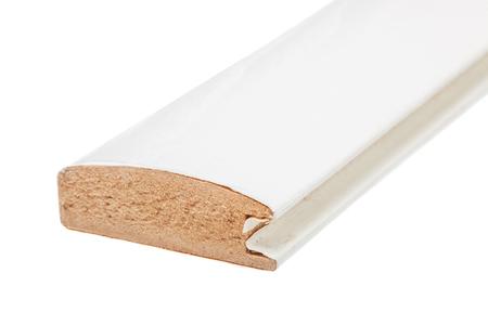 흰 긴 몰딩, mdf로 만든, 흰색 배경