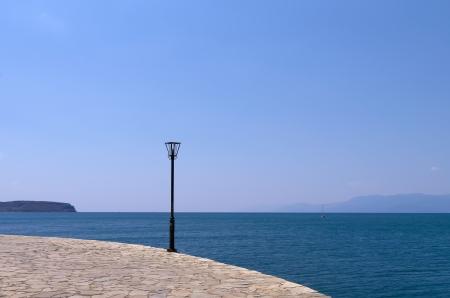 nafplio: Lamp at the waterfront in Nafplio, Greece