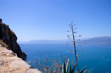 nafplio: Sea view from the Palamidi castle in Nafplio, Greece