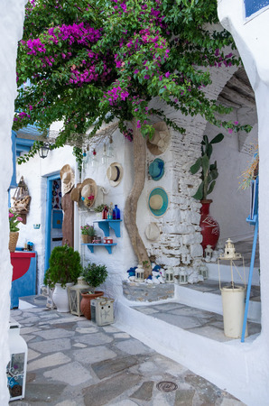 cyclades: Street in Ermoupolis, Syros island, Cyclades, Greece