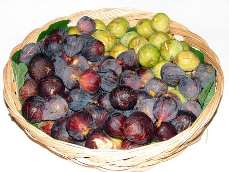 purple fig: green and purple fig fruit