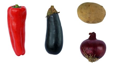 withe background: various vegetable on withe background (no shadow)