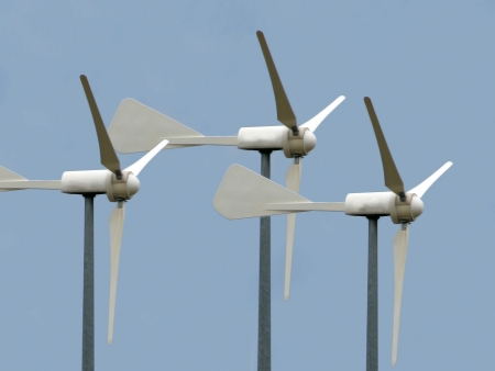wind energy  blue background photo