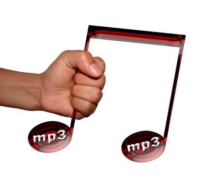 mp3: take mp3 Stock Photo