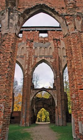 Gothic church ruins in Tartu, Estonia Standard-Bild