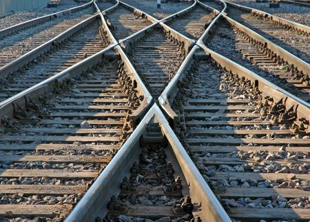 sporen: Eisenbahn  Lizenzfreie Bilder