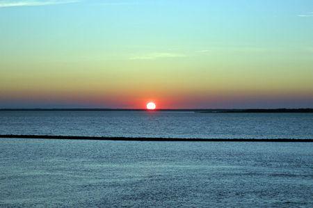 sunset at sea Stock Photo - 2863833