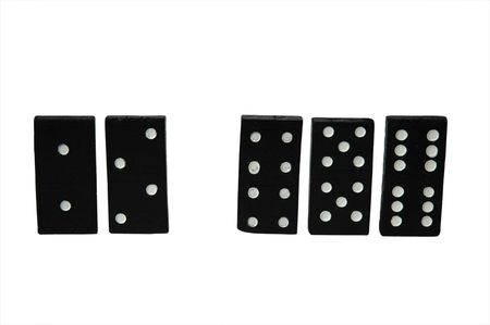 passtime: series object on white: isolated -dominoes