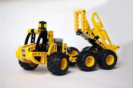yellow construction Monster Truck toy