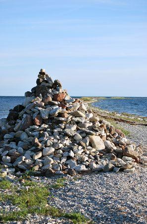 Stack of stone in calm sea Stock Photo - 4527169