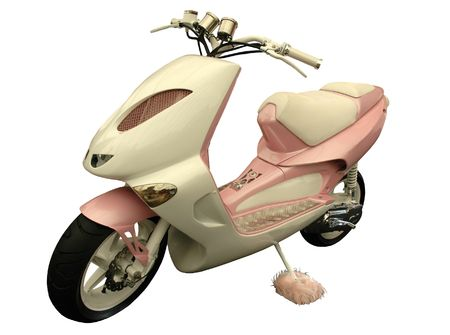 pink scooter Stock Photo