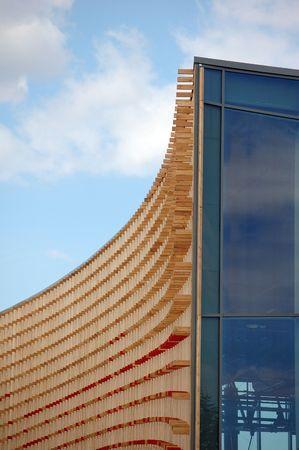 modern architectual wood texture