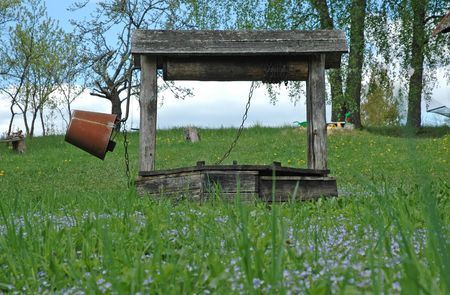 Wooden rural well Stock Photo - 4953848
