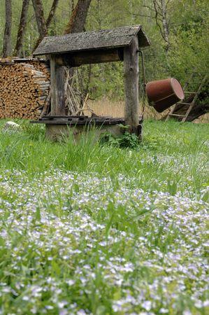Wooden rural well