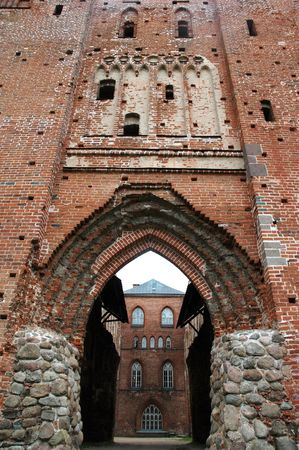 ancient church ruins in Tartu, Estonia photo