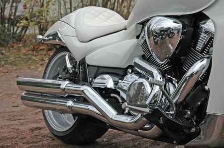 part of vintage motorcycle Standard-Bild