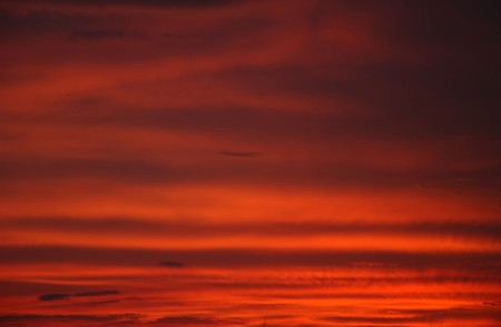 sunset over sky photo