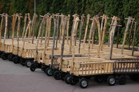shopping carts at car park photo