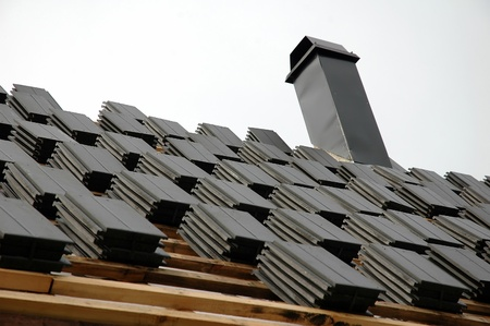 roofing tiles on roof photo