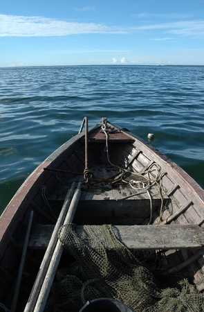 old wooden fishing boat on sea Stock Photo - 10702074