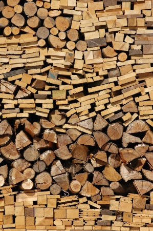 woodpile of different fire woods photo