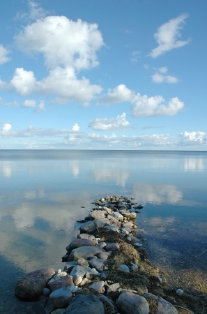 Beautiful seascape  Clouds reflecting from sea Stock Photo - 17524619